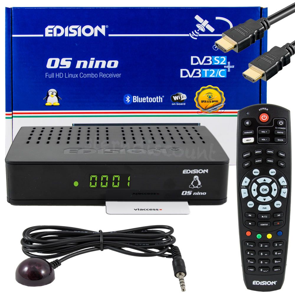 edision os nino combo sat kabel receiver linux e2 openatv hdtv wlan usb hdmi ebay. Black Bedroom Furniture Sets. Home Design Ideas