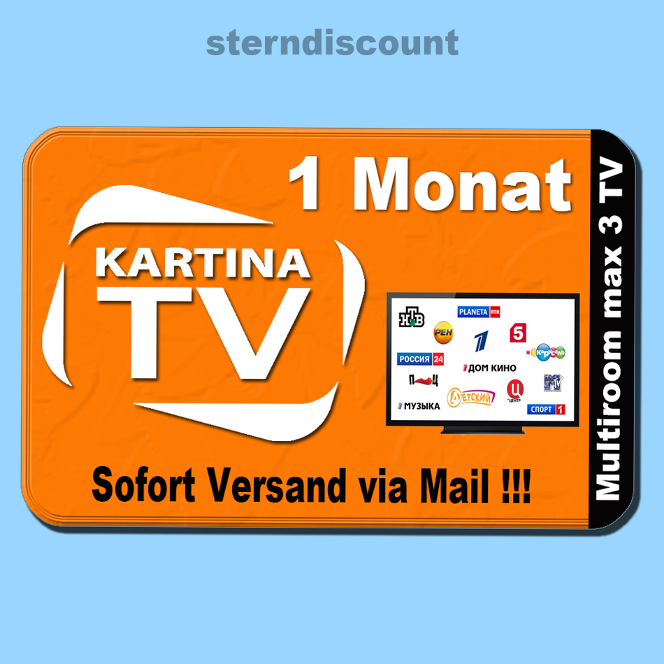 kartina tv box comigo quattro iptv receiver 1 monat full hdtv russische sender ebay. Black Bedroom Furniture Sets. Home Design Ideas