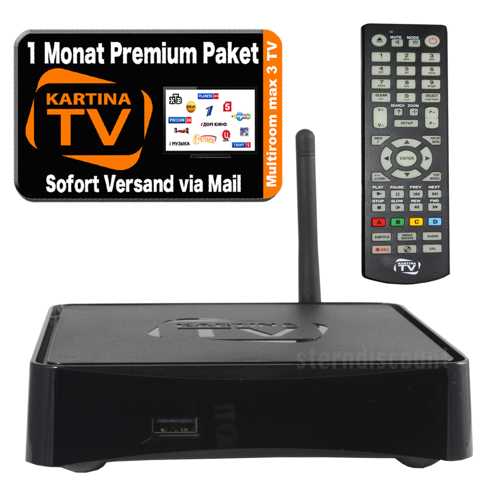 kartina tv like full hdtv receiver 1 monat kartina tv premium russian iptv ru ebay. Black Bedroom Furniture Sets. Home Design Ideas