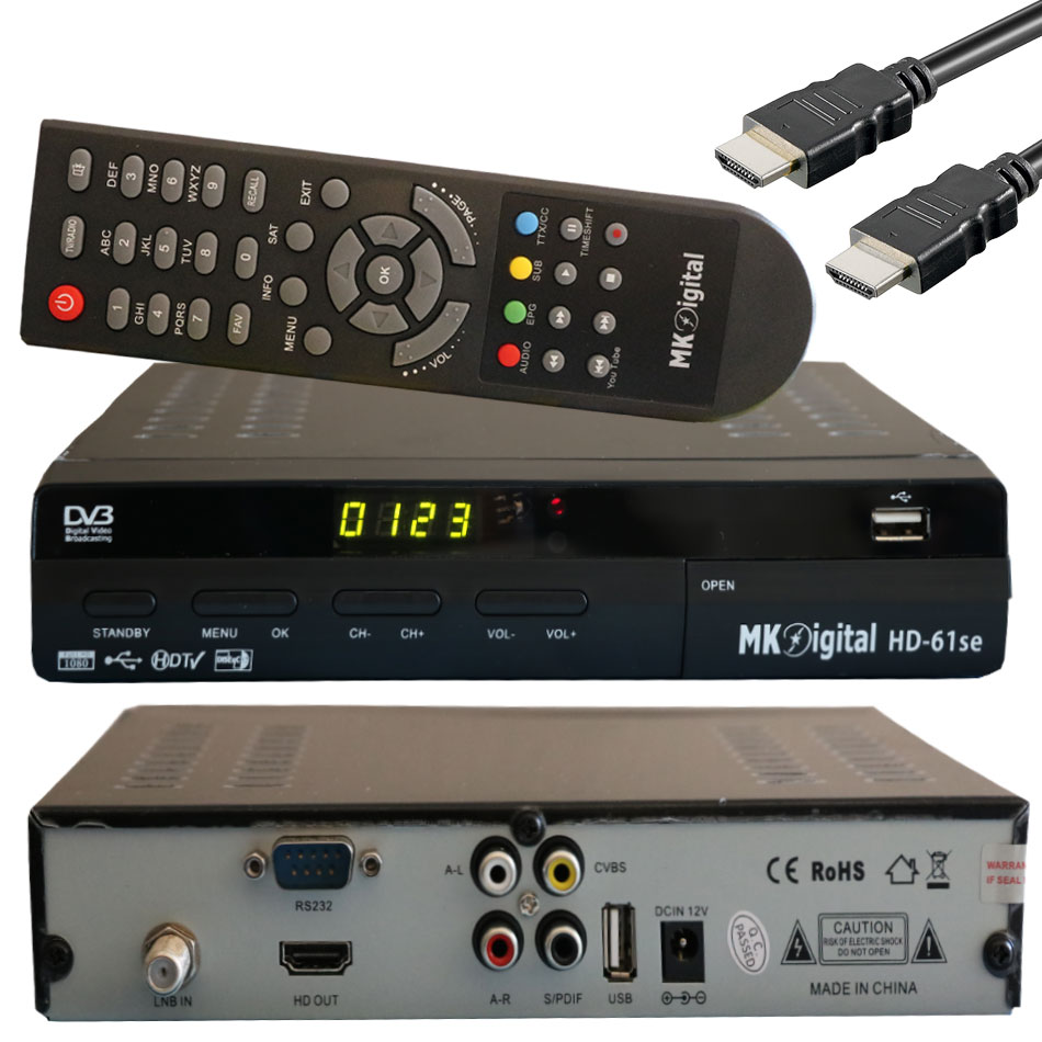 mk digital se61 satellite receiver full hdtv 1080 usb mediaplayer hdmi wifi new ebay. Black Bedroom Furniture Sets. Home Design Ideas
