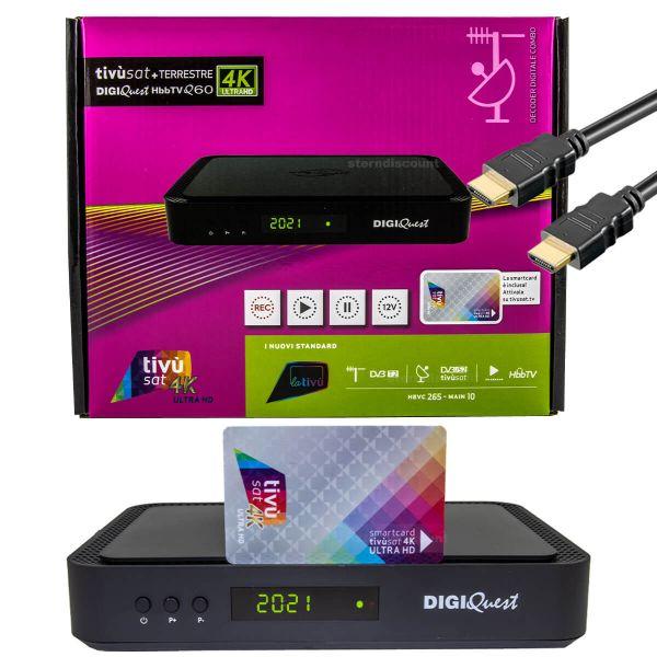 Digiquest q60 4k receiver UHD tivusat