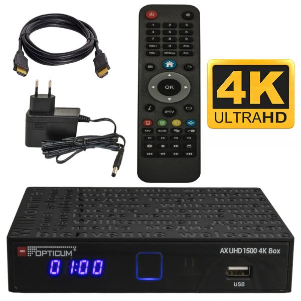 Opticum ax 1500 UHD 4K box