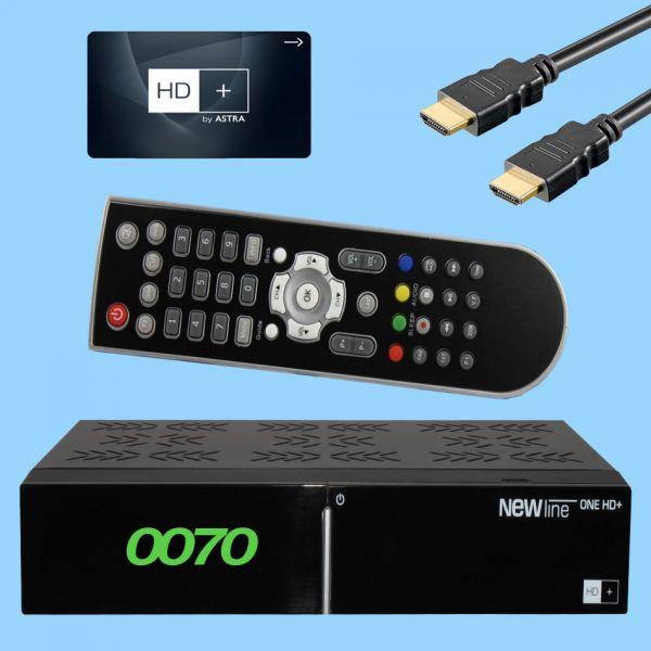 NewLine One HD+ Sat receiver inkl. HD Plus Karte 6 monate