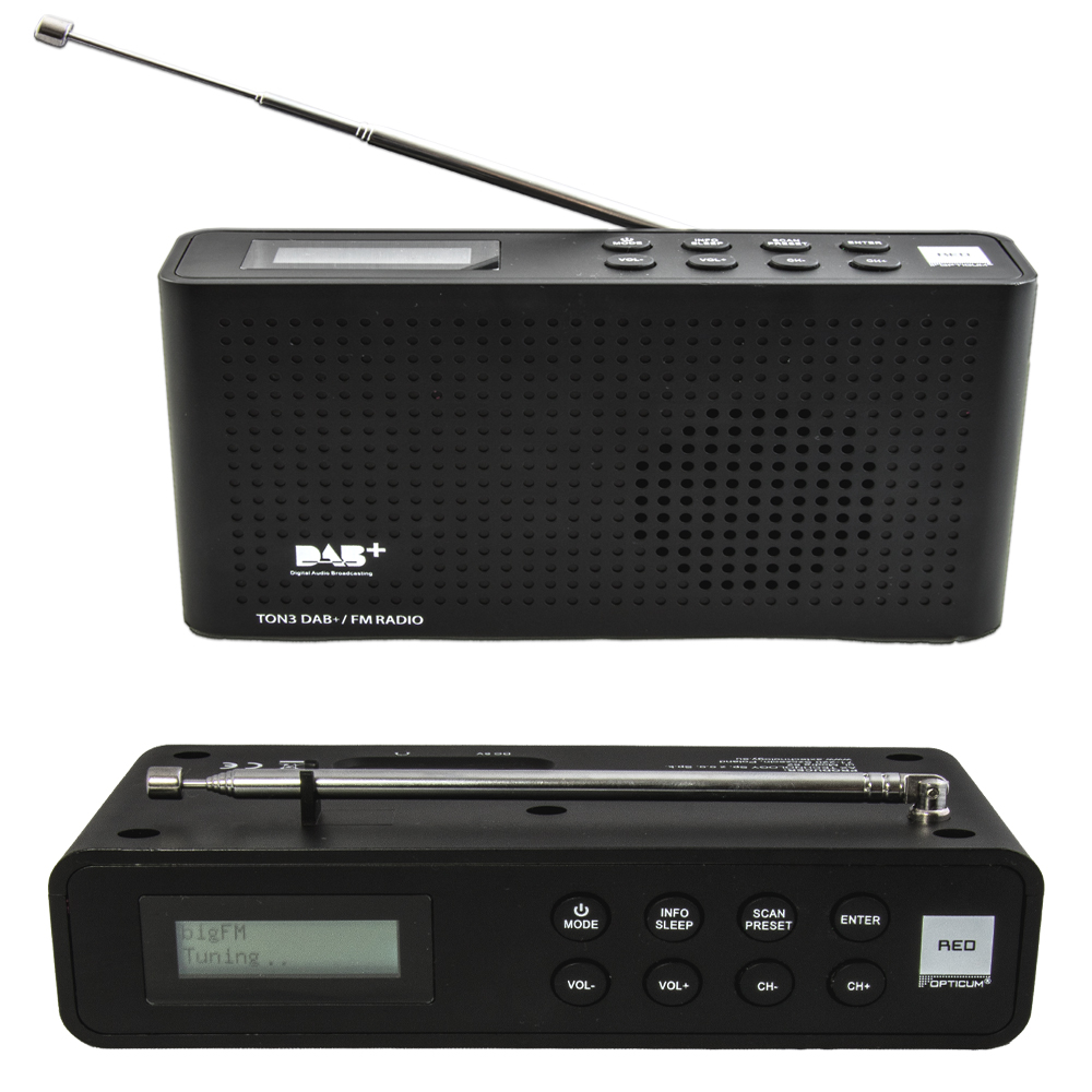dab radio tone 3 opticum digital empfang fm akku betrieben. Black Bedroom Furniture Sets. Home Design Ideas
