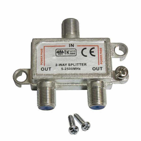 2 Fach Splitter 5-2500 Mhz SAT