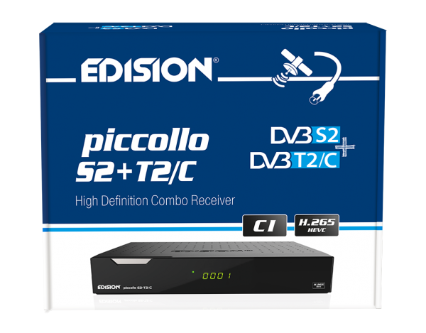 Edision PICCOLLO 3in1 SAT Kabel T2 Receiver