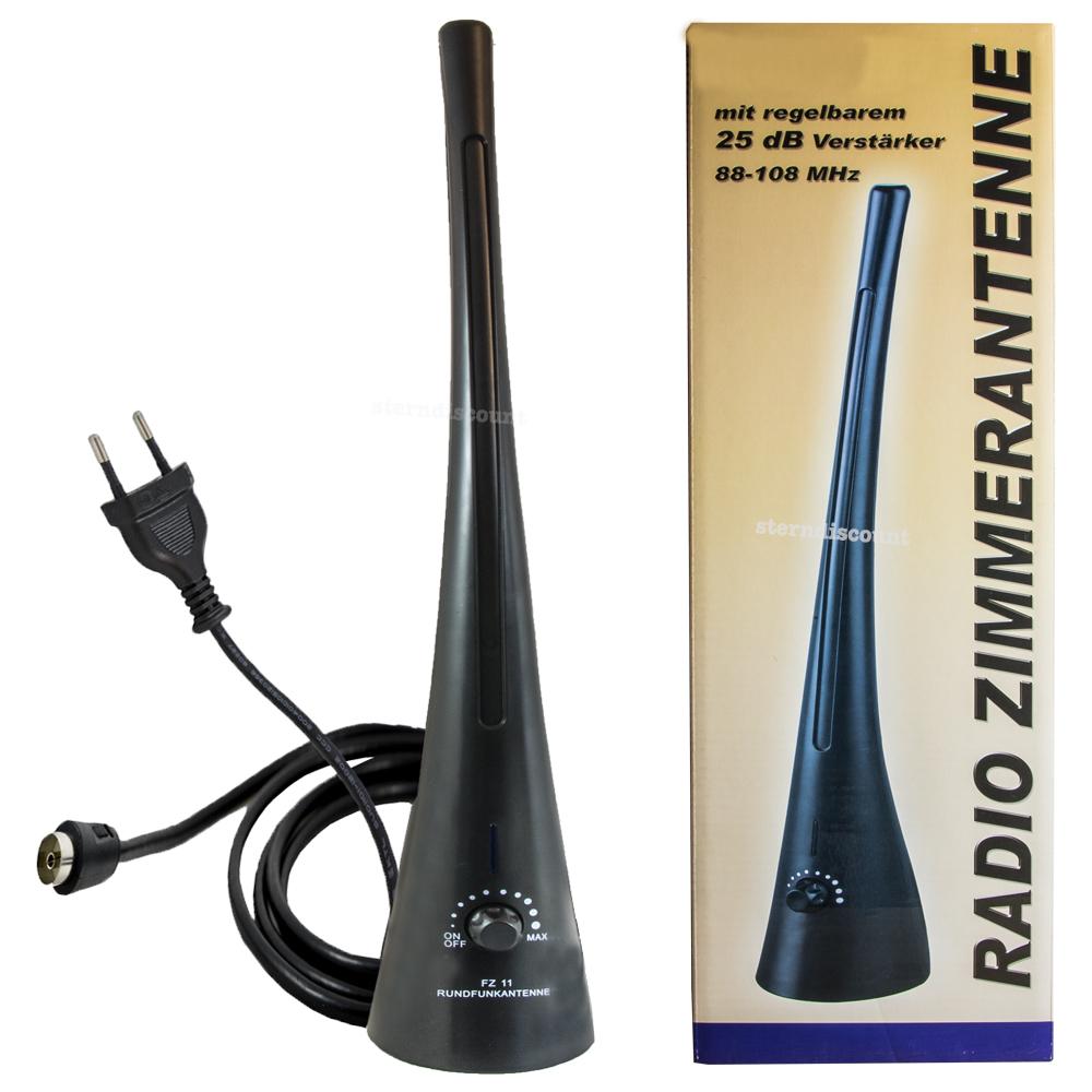 ukw radio zimmerantenne 25db verst rkung antenne. Black Bedroom Furniture Sets. Home Design Ideas