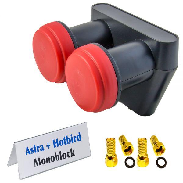 Opticum Monoblock Twin LNB LMTP-06H ( Astra + Hotbird )
