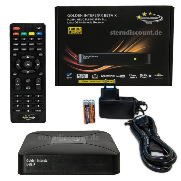 Golden Interstar BETA X IPTV BOX