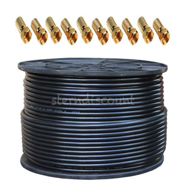 koaxialkabel schwarz 135db 100m