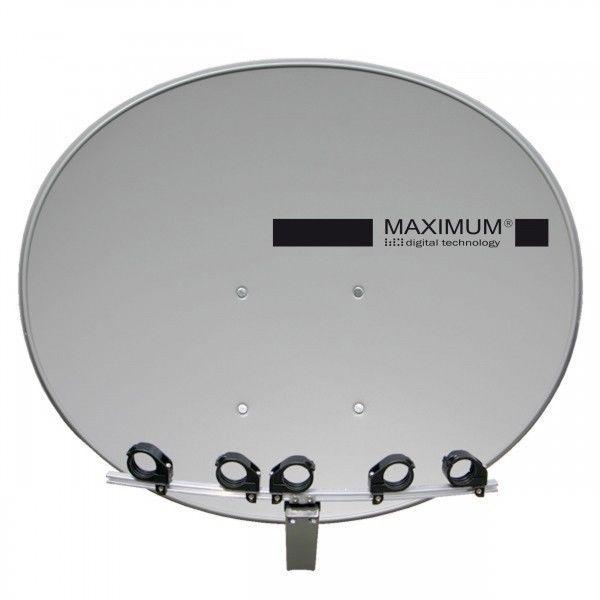 Maximum T-85 SAT Spiegel Antenne inkl. Multifeedschiene und 5 LNB Halterung in Anthrazit.