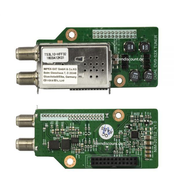 Gigablue DUAL TWIN DVB-S2X Multistream Tuner X2 / UE 4K / QUAD 4K