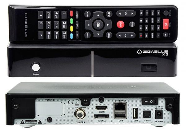 Gigablue X3.H Sat Receiver h.265 HEVC IPTV