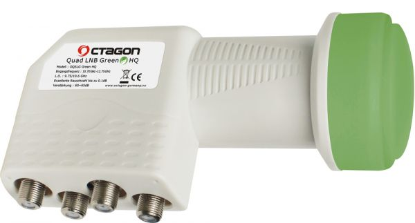 Octagon Quad LNB Green 0,1dB Quattro Switch