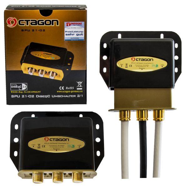 Octagon DiSEqC Umschalter 2/1 Gold