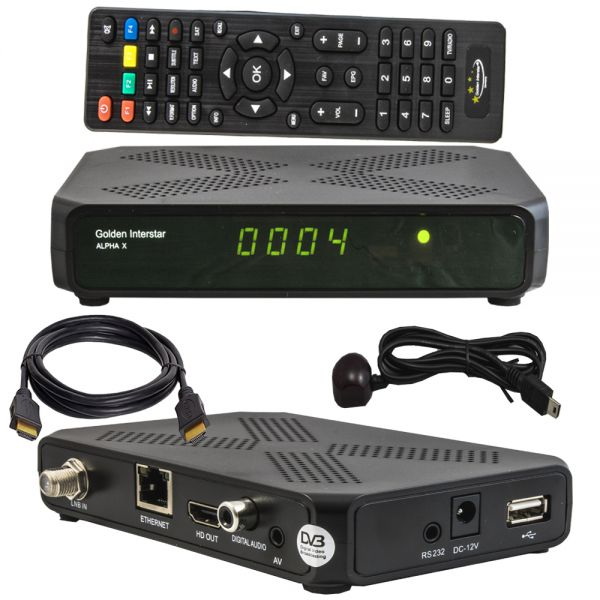 Golden Interstar Alpha X Sat receiver DVB-S2X