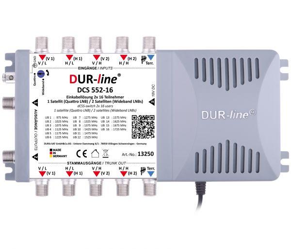 DUR-line DCS 552-16 - Einkabellösung Multischalter