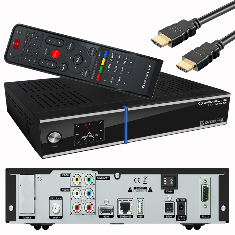 gigablue ultra ue hd sat receiver schwarz usb hdmi digital dvb s2 linux e2 hdtv ebay. Black Bedroom Furniture Sets. Home Design Ideas