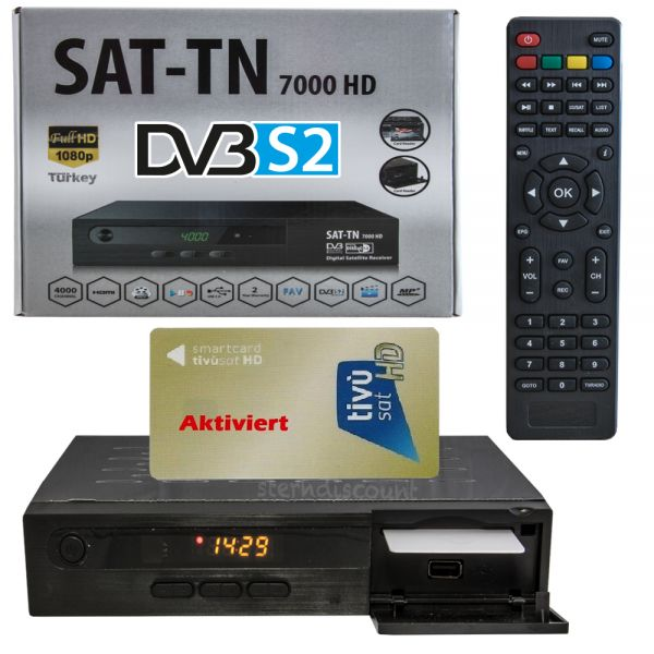 tn 7000 hd sat receiver mit tivusat karte gold full hdtv ebay. Black Bedroom Furniture Sets. Home Design Ideas