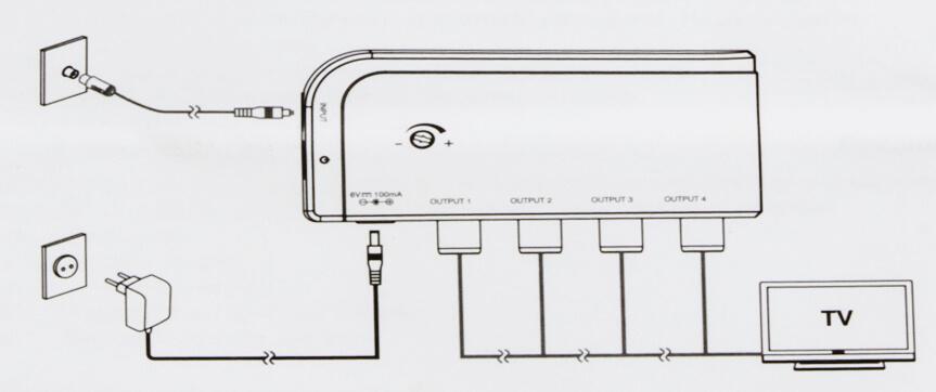 tv-signalverstarker-mit-4-anschluesse