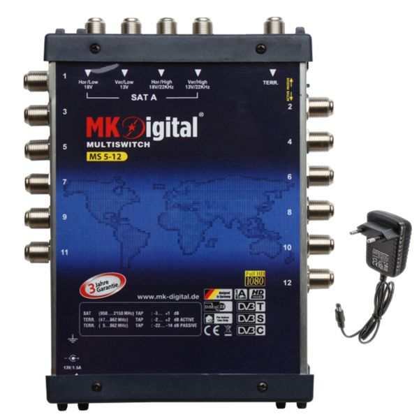 Mk-Digital Multiswitch 5/12