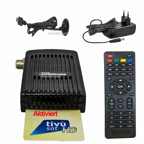 Tivusat Receiver + Karte Aktiviert echosat 61ca HD