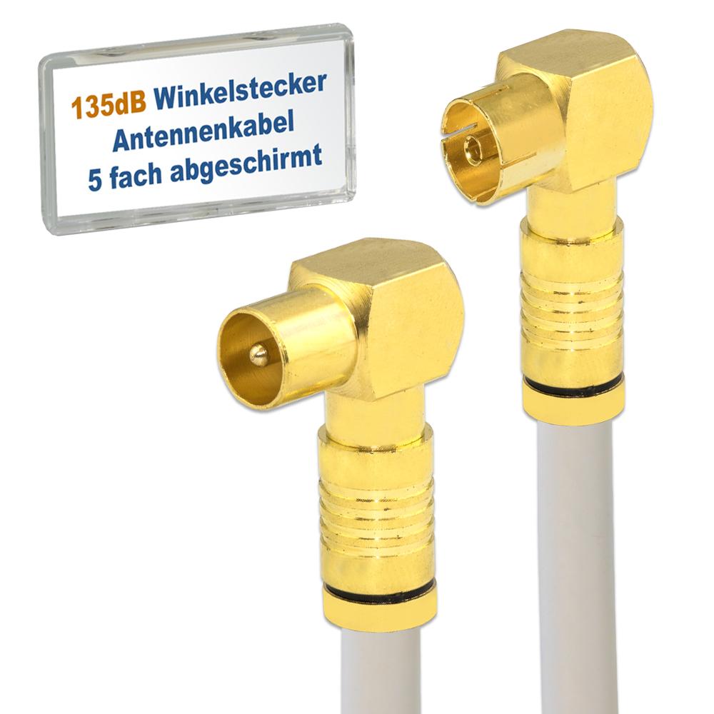 2x F-Stecker Quick auf F-Buchse Kabel SAT TV Adapter Verbinder Schnellstecker