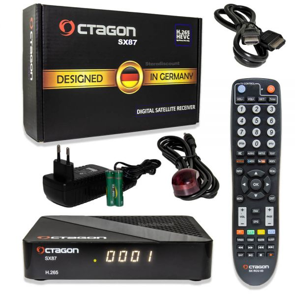 Octagon SX87 & WL HD S2+iP SAT-Receiver H.265 HEVC