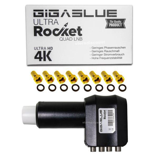 Gigablue ULTRA Rocket Quad LNB 0,1dB ( 4 direkte Anschlüsse )