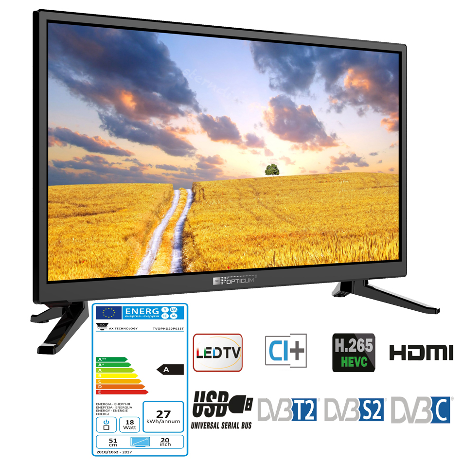 opticum led hd tv 20 zoll wohnmobil fernseher ci 12v 24v. Black Bedroom Furniture Sets. Home Design Ideas