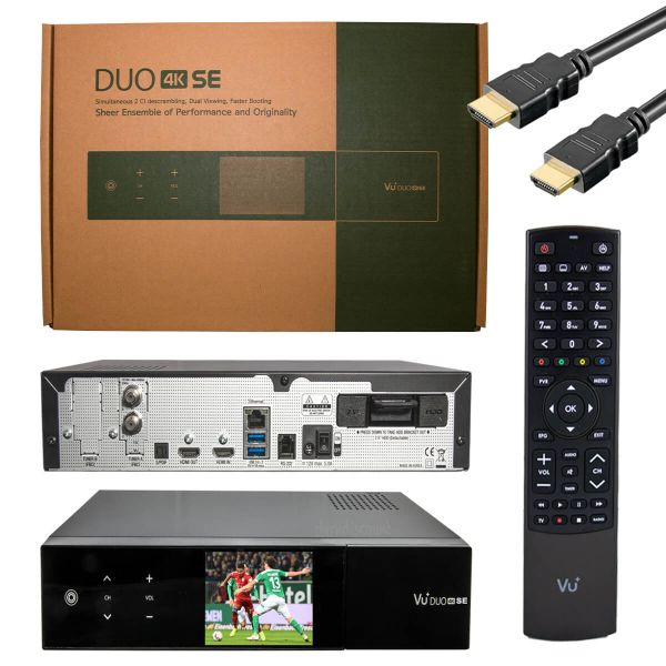 Vu+ DUO 4K SE 1x DVB-S2X FBC Twin Tuner PVR Linux Receiver UHD 2160p