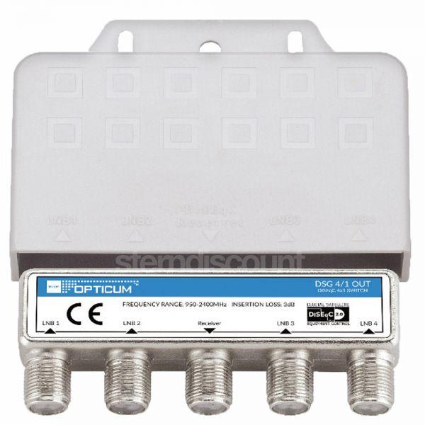 OPTICUM DiSEqC Schalter 4/1 verteiler
