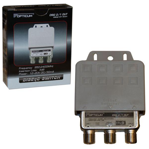 DiSEqC Schalter 2-1 LNB Umschalter von Opticum
