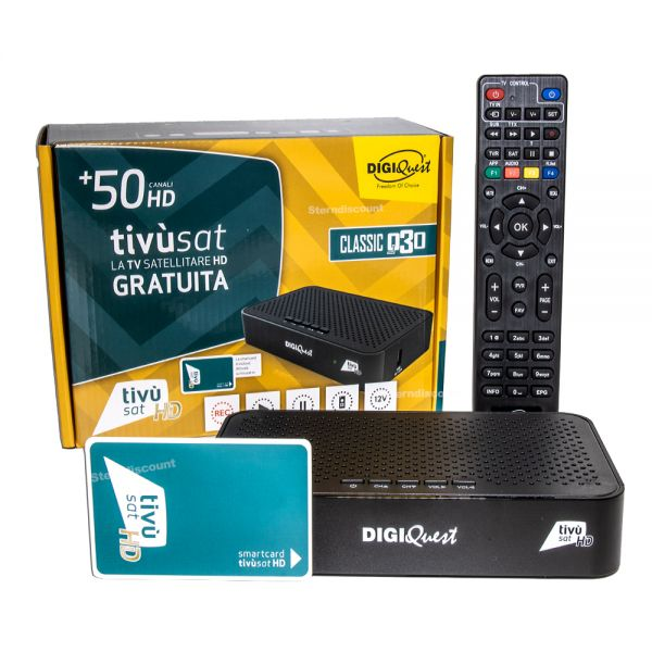 DigiQuest Q30 Tivu-sat-HD-Receiver mit Karte