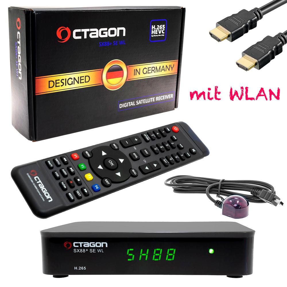 Octagon SX88+SE WL mit WLAN IPTV & SAT DVB-S2x h 265