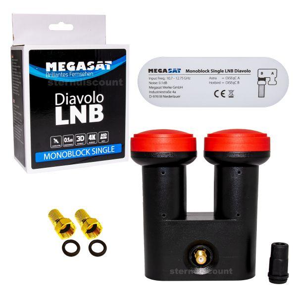 Megasat Diavolo Monoblock LNB hotbird astra