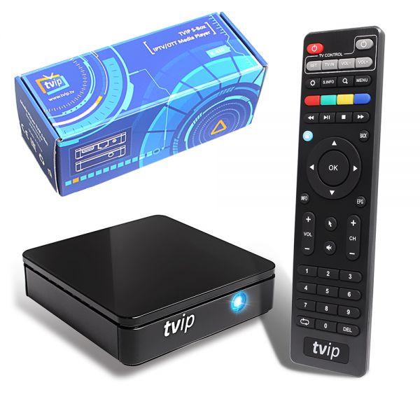 TVip v.412 IPTV MEDIA PLAYER HEVC H.265 inkl. WLAN