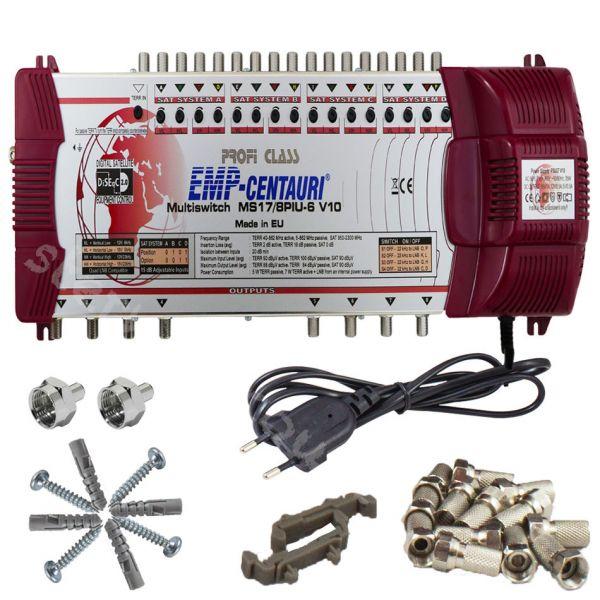 EMP 17|8 Sat Multischalter Profi Class Rot UHD 4K