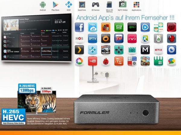 Formuler Z Plus Android apps