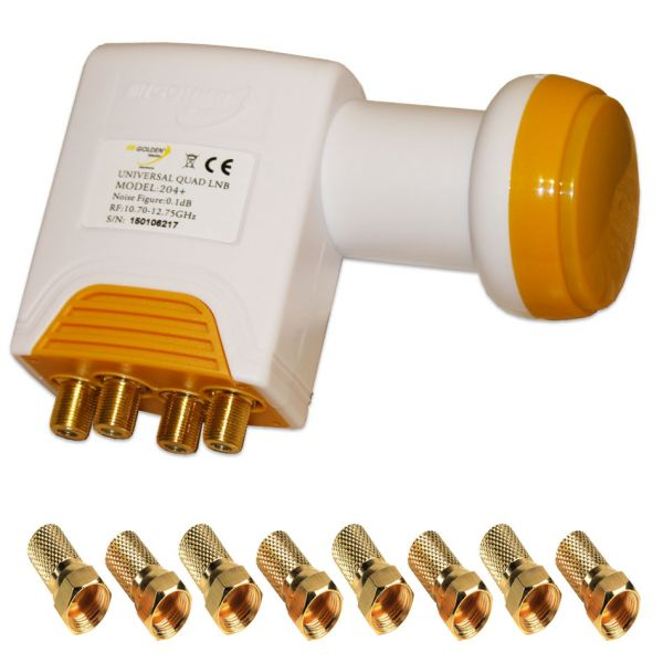 Golden Media Quad LNB 0,1 db High Gain