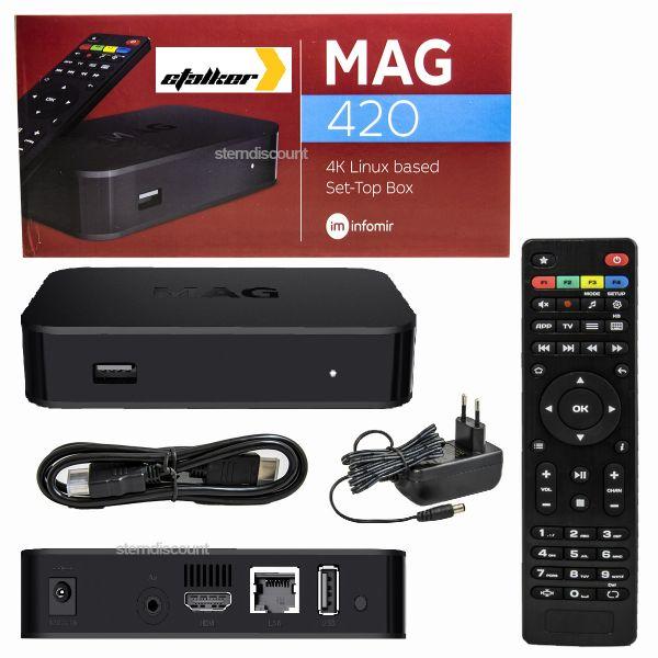 MAG 420 ► 4K ◀ IPTV BOX Infomir H.265 HEVC Linux