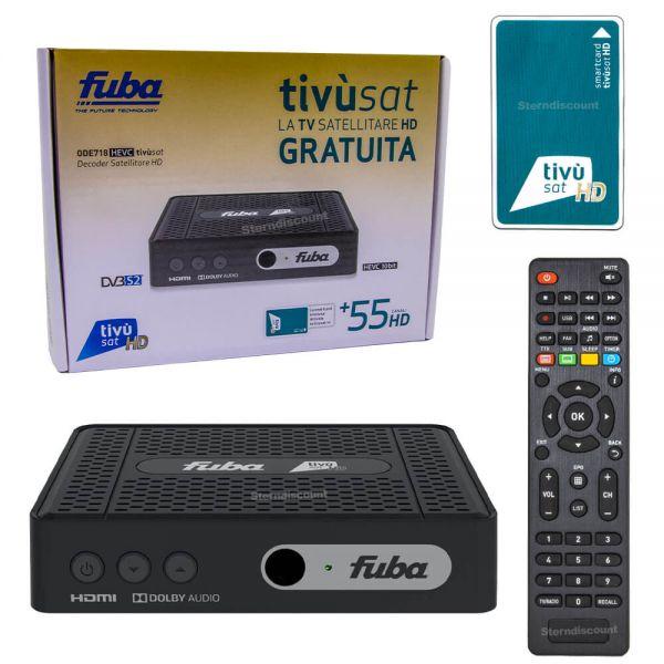 FUBA ODE 718 HD Tivusat receiver + Karte