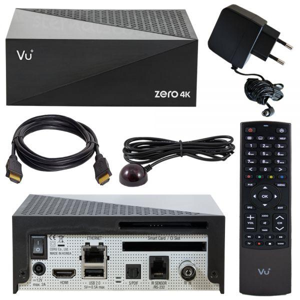 VU+ Zero 4k UHD kabelanschluss dvb-c t2 receiver