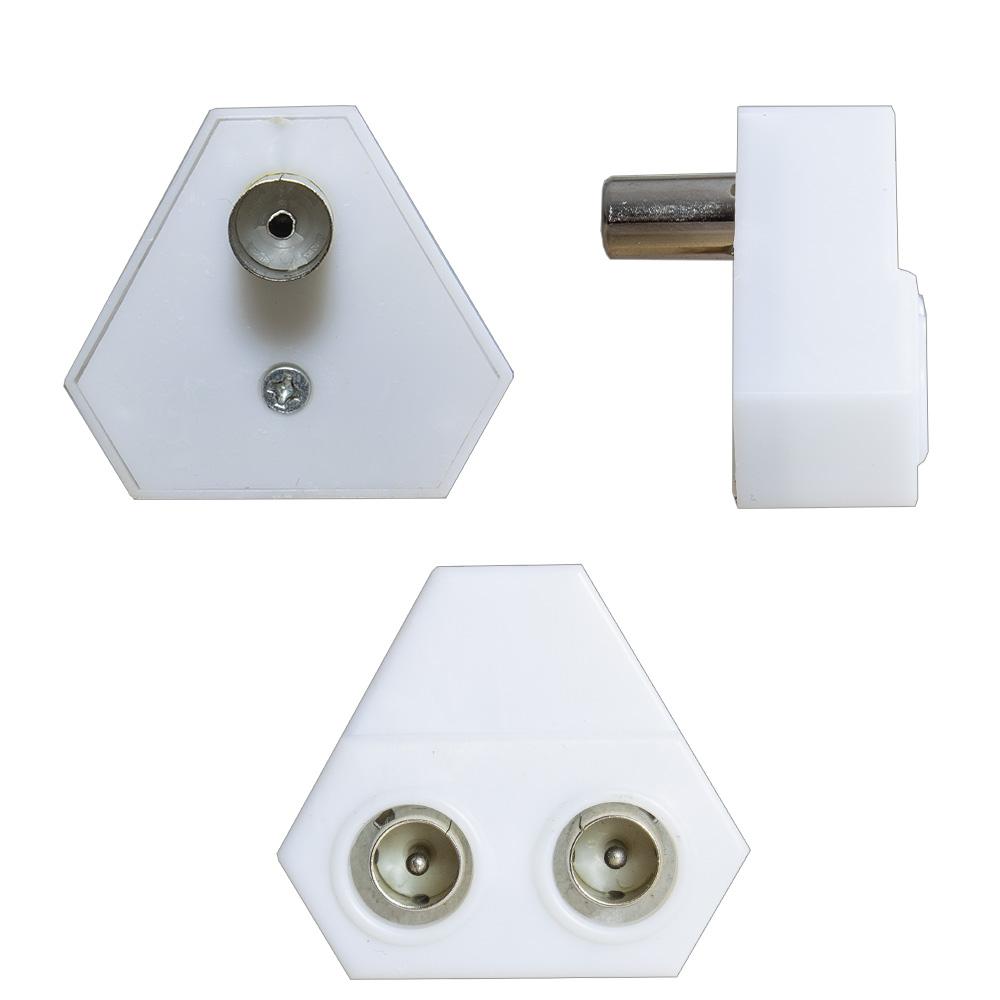 tv kabel fernsehen adapter 2 fach splitter. Black Bedroom Furniture Sets. Home Design Ideas