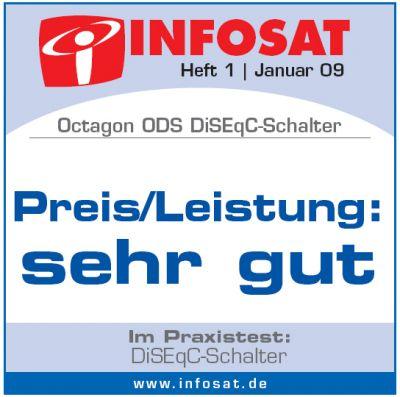 Octagon Diseqc Schalter 2/1 Test sehr gut