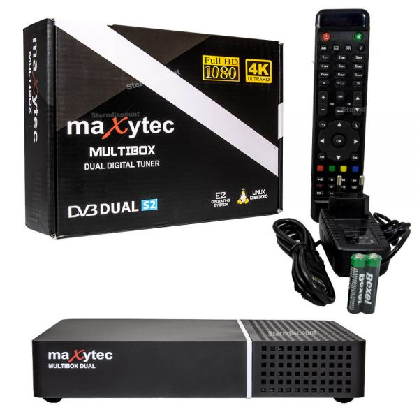 Maxytec Multibox Dual Twin SAT 2x DVB-S2X UHD 4K E2 Receiver