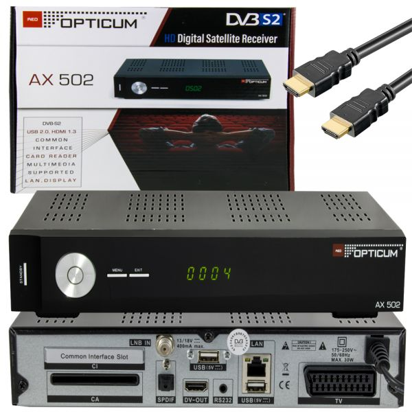 OPTICUM AX 502 HDTV SAT Receiver