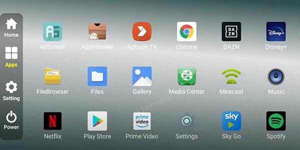Medialink-M9-Apps-vorinstalliert
