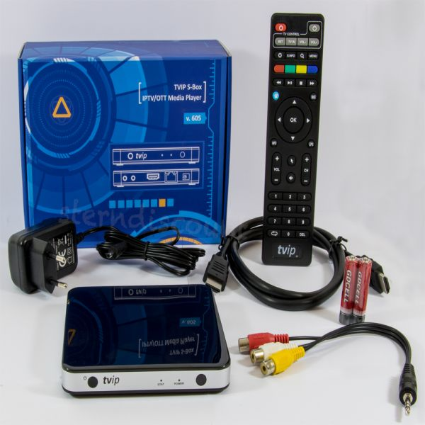 TVip 605 Schwarz 4K IPTV BOX Stalker
